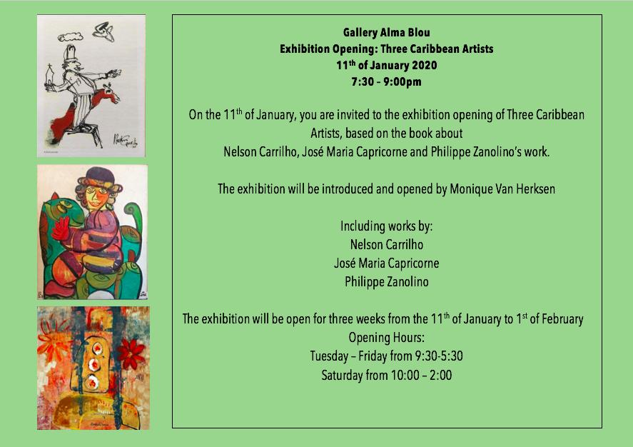 1 Three Caribbean Artists January 2020 Invitation