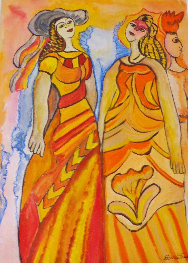 Hende Muhé ku Kabei Largu (Women with Long Hair)